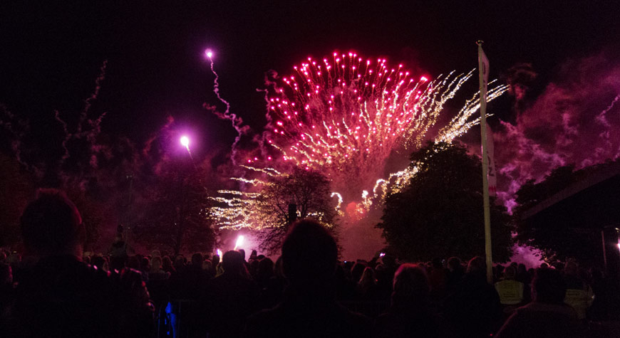 Firework display hosted by Beaulieu